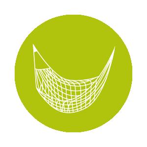 Dieses Icon zeigt eine Netz Hängematte