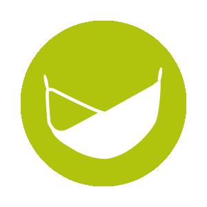 Dies ist ein Icon, das eine Reisehängematte zeigt