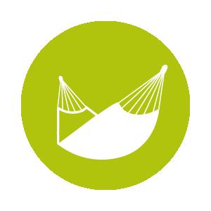 Dies ist ein Icon, das eine Tuchhängematte zeigt