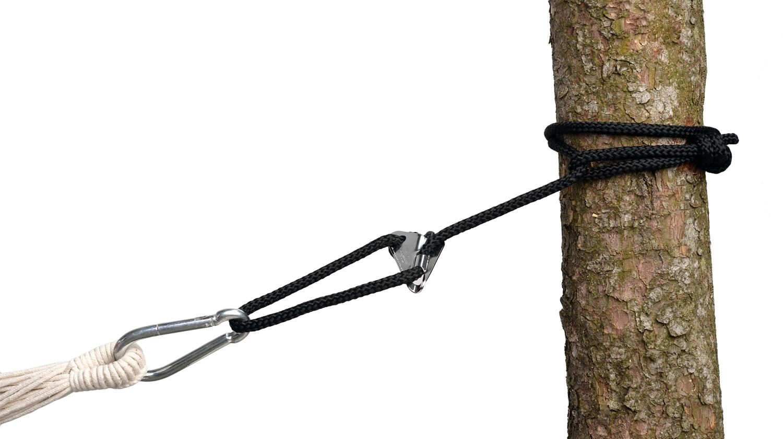 Hier ist ein Knoten für eine Hängematte zu sehen