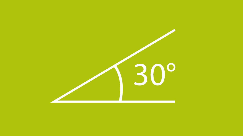 Dieses Grafik zeigt einen 30 Grad Winkel