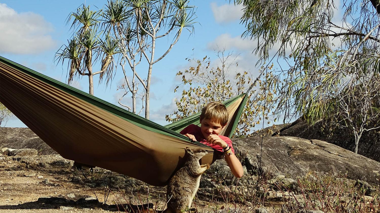 Hier zu sehen ist die Amazonas Adventure Hängematte