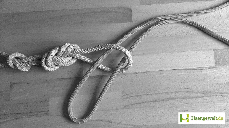Schritt 2 – Becket Hitch Hängematten Knoten