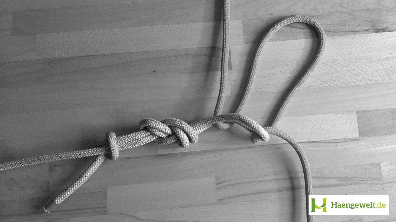 Schritt 3 – Becket Hitch Hängematten Knoten