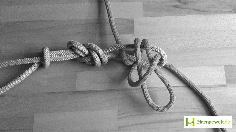 Schritt 4 – Becket Hitch Hängematten Knoten