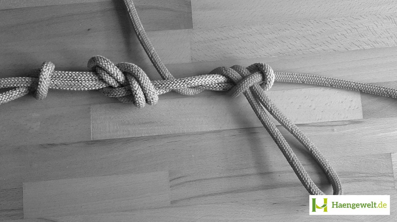Schritt 5 – Becket Hitch Hängematten Knoten