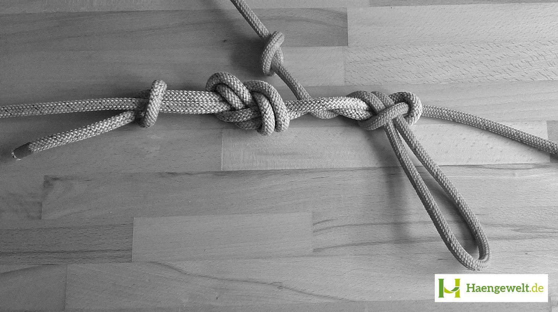 Schritt 6 – Becket Hitch Hängematten Knoten