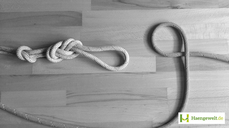 Lerne hier, wie man einen Doppelten Achter Knoten für Hängematten knotet
