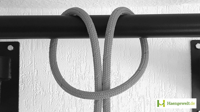 Schritt 3 – Doppelter Anker Hängematten Knoten